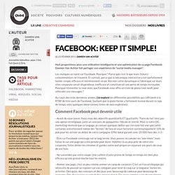 Facebook: Keep It Simple! » Article » OWNI, Digital Journalism