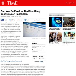 Facebook and Labor Laws: Can Internet Posts Get You Fired?