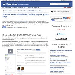 How To Create A Facebook Landing Page In 3 Easy Steps