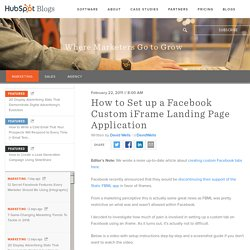 How to Set up a Facebook Custom iFrame Landing Page Application