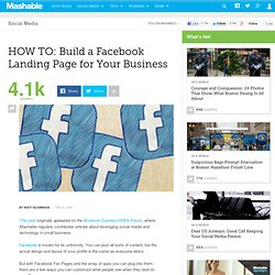 HOW TO: Build a Facebook Landing Page for Your Business