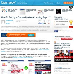 How To Set Up a Custom Facebook Landing Page