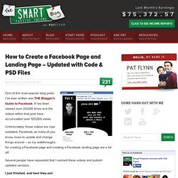 How to Create a Facebook Page and Landing Page (UPDATED!)
