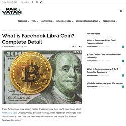 What is Facebook Libra Coin? Complete Detail - Pak Vatan