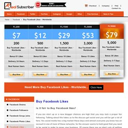 Buy Facebook Likes and Fans