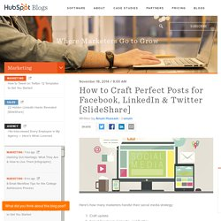 How to Craft Perfect Posts for Facebook, LinkedIn & Twitter [SlideShare]