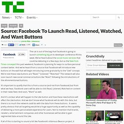 Source: Facebook To Launch Read, Listened, Watched, And Want Buttons