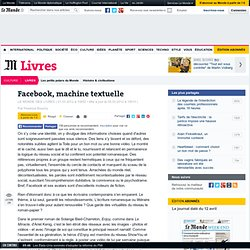 Facebook, machine textuelle