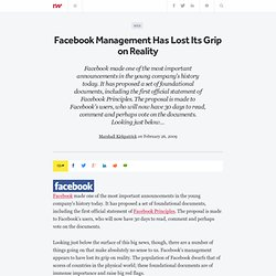 Facebook Management Has Lost Its Grip on Reality - ReadWriteWeb
