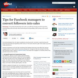 Tips for Facebook managers to convert followers into sales