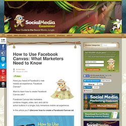 How to Use Facebook Canvas: What Marketers Need to Know : Social Media Examiner