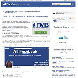 How To Use Facebook's Timeline For Marketing
