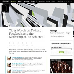 Tiger Woods on Twitter, Facebook, and the Marketing of Pro Athletes