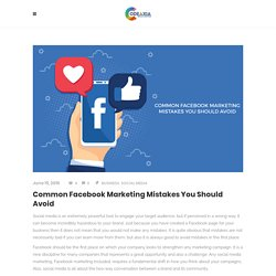 Common Facebook Marketing Mistakes You Should Avoid