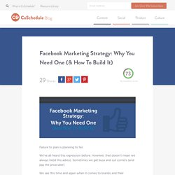 Facebook Marketing Strategy: Why You Need One & How To Build It