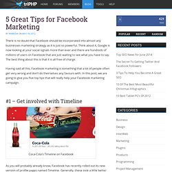 5 Great Tips for Facebook Marketing