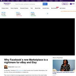 Why Facebook's new Marketplace is a nightmare for eBay and Etsy [Video]