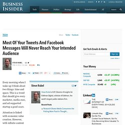 Most Of Your Tweets And Facebook Messages Will Never Reach Your Intended Audience