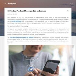 Get the Best Facebook Messenger Bots for Business