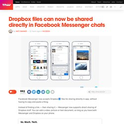 Facebook Messenger and Dropbox are now best friends