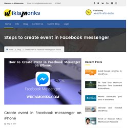 How to create event in Facebook messenger on iPhone