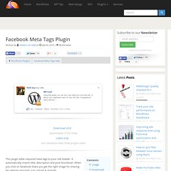 Facebook Meta Tags Plugin | Shailan