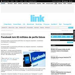 Facebook tem 83 milhões de perfis falsos