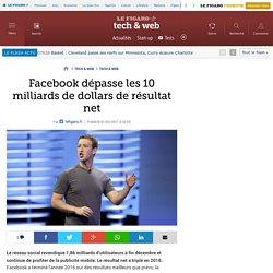 Facebook dépasse les 10 milliards de dollars de résultat net