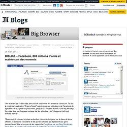 DISLIKE – Facebook, 800 millions d'amis et maintenant des ennemis