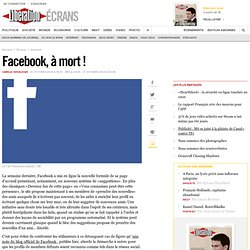 Facebook, à mort !
