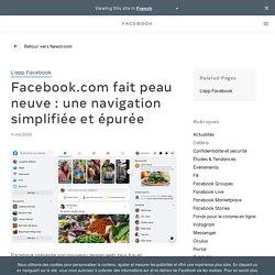 Facebook.com fait peau neuve : une navigation simplifiée et épurée - À propos de Facebook