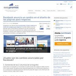 Facebook anuncia un cambio en el diseño de las páginas para negocios