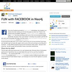 FUN with FACEBOOK in Neo4j