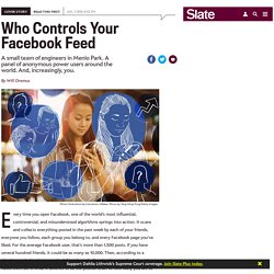 How Facebook's news feed algorithm works.