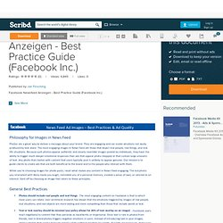 Facebook Newsfeed Anzeigen - Best Practice Guide (Facebook Inc.)