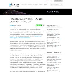 Facebook and Nielsen Launch BrandLift in the U.K.