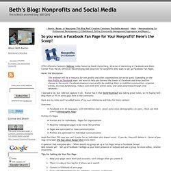 Beth's Blog: How Nonprofits Can Use Social Media: So you w