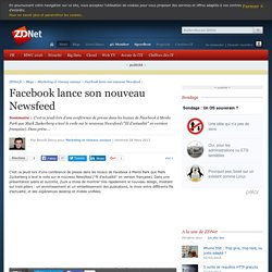 Facebook lance son nouveau Newsfeed - ZDNet