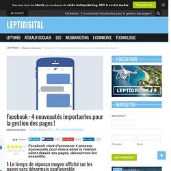 Facebook : 4 nouveautés pour la gestion des pages !