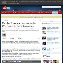 Facebook soumet ses nouvelles CGU au vote des internautes