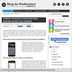Facebook : de nouvelles pages pour mobile adaptées aux PME et au e-commerce