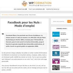 FaceBook pour les Nuls - Mode d'emploi