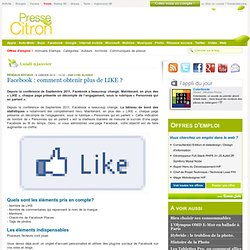 Facebook : comment obtenir plus de LIKE ?