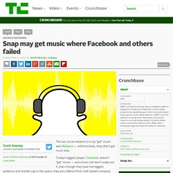Snap may get music where Facebook and others failed