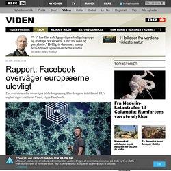 Rapport: Facebook overvåger europæerne ulovligt