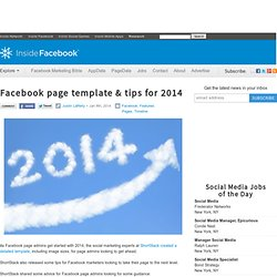 Facebook page template & tips for 2014 - Inside Facebook