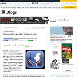 Facebook et le «paradoxe de la vie privée»
