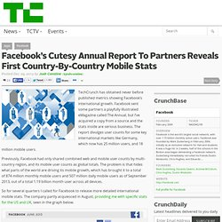 Facebook's Cutesy Annual Report To Partners Reveals First Country-By-Country Mobile Stats