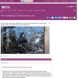 The Facebook party that became a riot