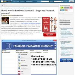 How I recover Facebook Password? I forgot my Facebook password by Markcreid Anderson